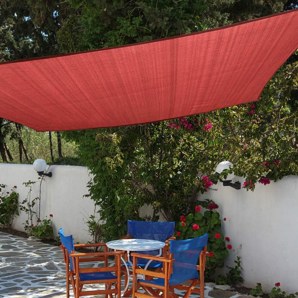 Shade&Beyond 8'x10' Sun Shade Sail Rectangle UV Block for Patio Yard Rust Red