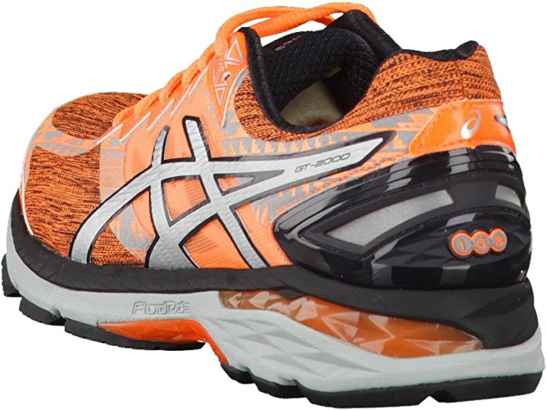Asics - Gt-2000 4 Lite-Show plasmaguard - Zapatillas Running de Estabilidad - Hot Orange/Silver/Black: Amazon.es: Zapatos y complementos