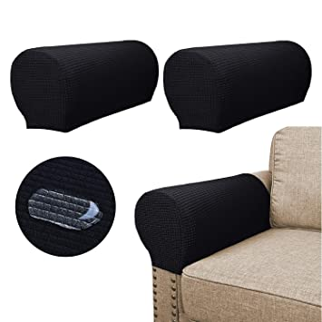 Magnificent Sofa Armrest Covers 2 Pieces Set Water Repellent Anti Slip High Stretch Knitted Jacquard Couch Arm Slipcover Protector Shield For Dog Cat Alphanode Cool Chair Designs And Ideas Alphanodeonline
