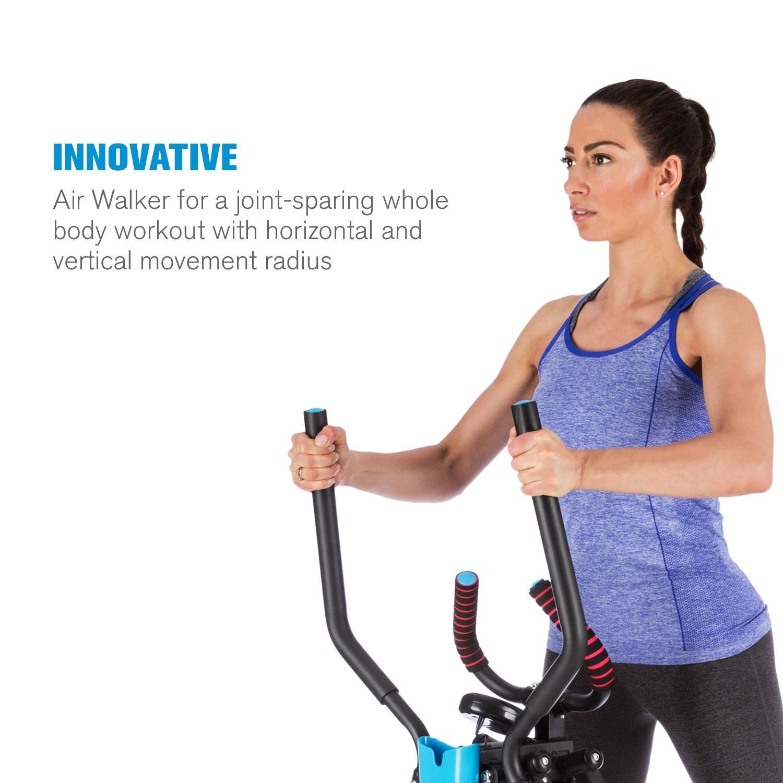 Capital Sports Air-Walker • Bicicleta Elíptica • Caminador • Completo • Movimiento Horizontal y Vertical • Ordenador • Pantalla LCD • Soporte de Tablet ...