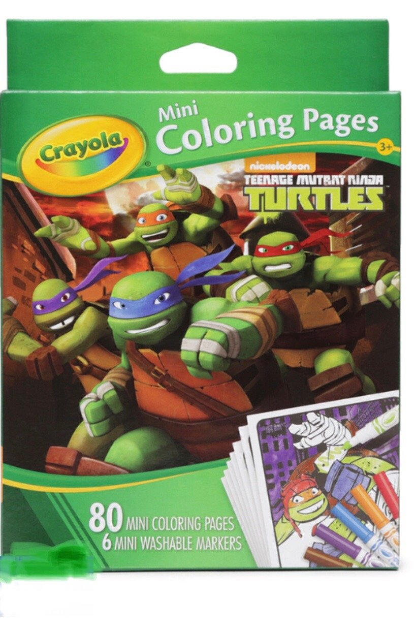 Amazon.com: Ninja Turtles 80 Mini Coloring Pages With 6 Washable ...