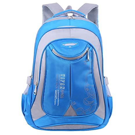 Mochila Niños Bolsas escolares oxford Impermeable con Correas Mochilas Escolares Mochilas infantiles Niño y niña Azul M