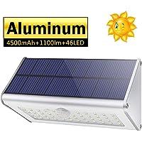 CAIYUE Luces solares al aire libre, 1100lm 46 LED 4500 mAh Luces de seguridad con sensor de movimiento Luces solares a…