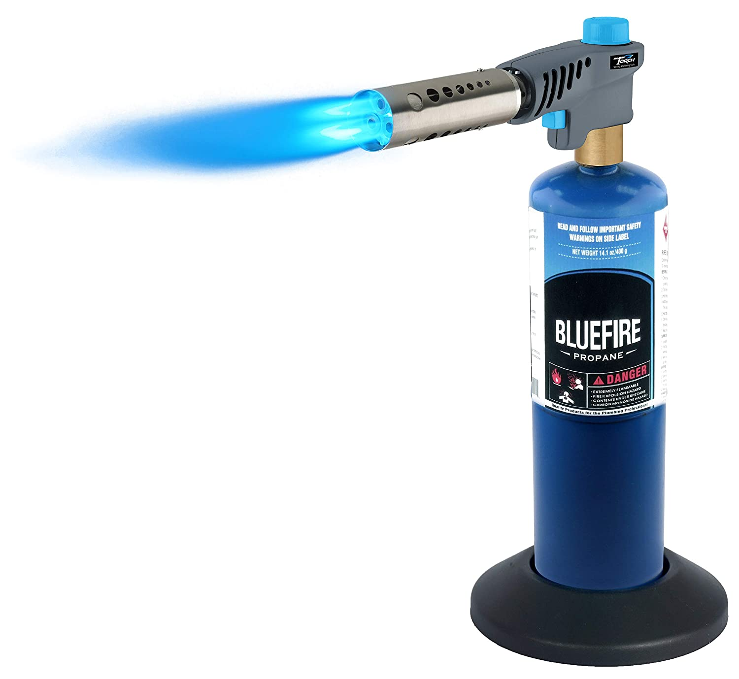 MR.TORCH Triple Flame Jet Turbo Torch ONLY, Trigger Start Gas Cooking/Searing/Welding Torch Head, Fuel by MAPP/MAP Pro/Propane, Free Cylinder Stabilize Base!
