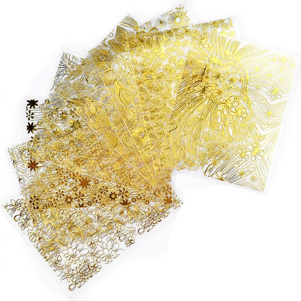 adhesivos dorados manicura
