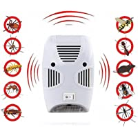 Xenoty Ultrasonic Pest Repeller Repellent, Home Pest Control Reject Device Non-Toxic Spider Lizard Mice Repellent Indoor for Mosquito, Ant, Flea, Rats, Roaches, Cockroaches, Fruit Fly, Rodent, Insect