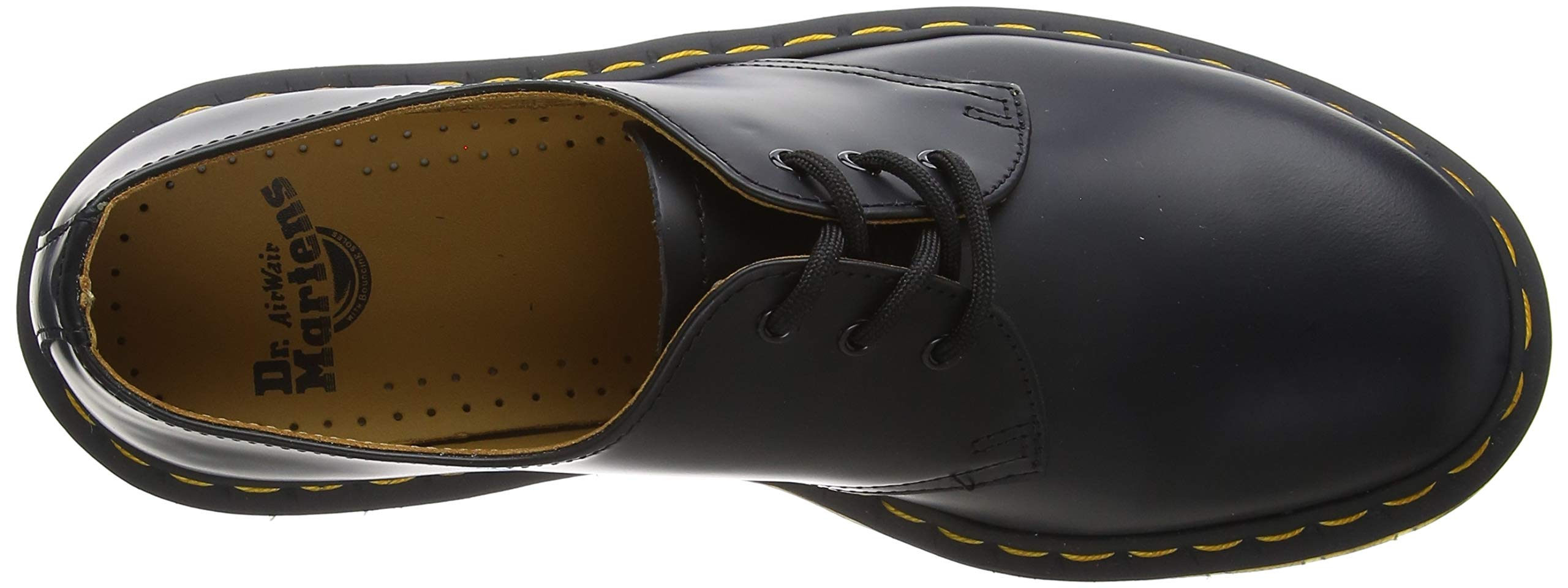 Dr. Martens – Men and Women 1461 Black Nappa 3-Eye Leather Oxford Shoe