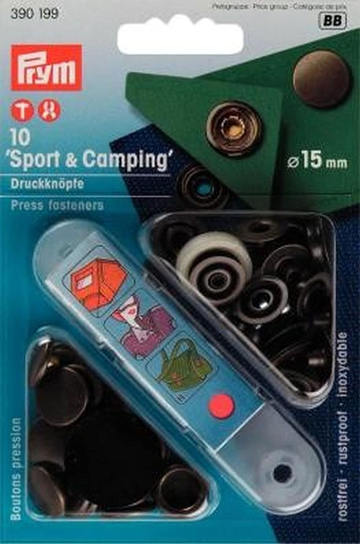 Prym Non-sew Fasteners Sport/&Camping Antique Brass 15 mm