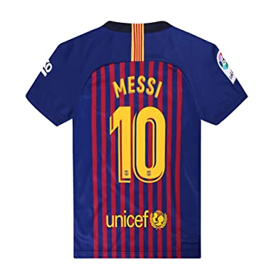 outlet store 122e8 67eeb 2018-19 Season Home Barcelona Messi #10 Mens Soccer Jersey Color Red/Blue