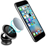 Magnetic Metal Phone Holder , Ubegood Universal Car Mount Holder [360 Rotating] Magnetic Car Mount Kit for iPhone SE/6S/6S Plus/Galaxy S7/S6 and other Smartphones (Black)