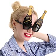 Champagne Sunglasses – Celebration Party Favors, Novelty Shades, Party Toys, Let's Party Funny Costume Glasses Accessories for Kids & Adults