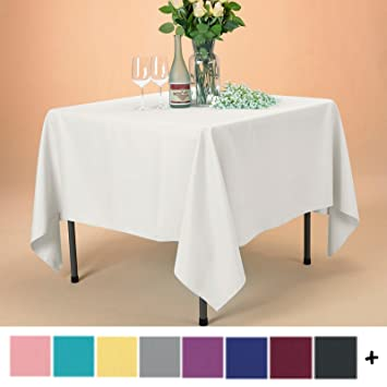 Remedios Tablecloth 70 Inch Square Polyester Table Cover   Wedding  Restaurant Party Banquet Decoration,