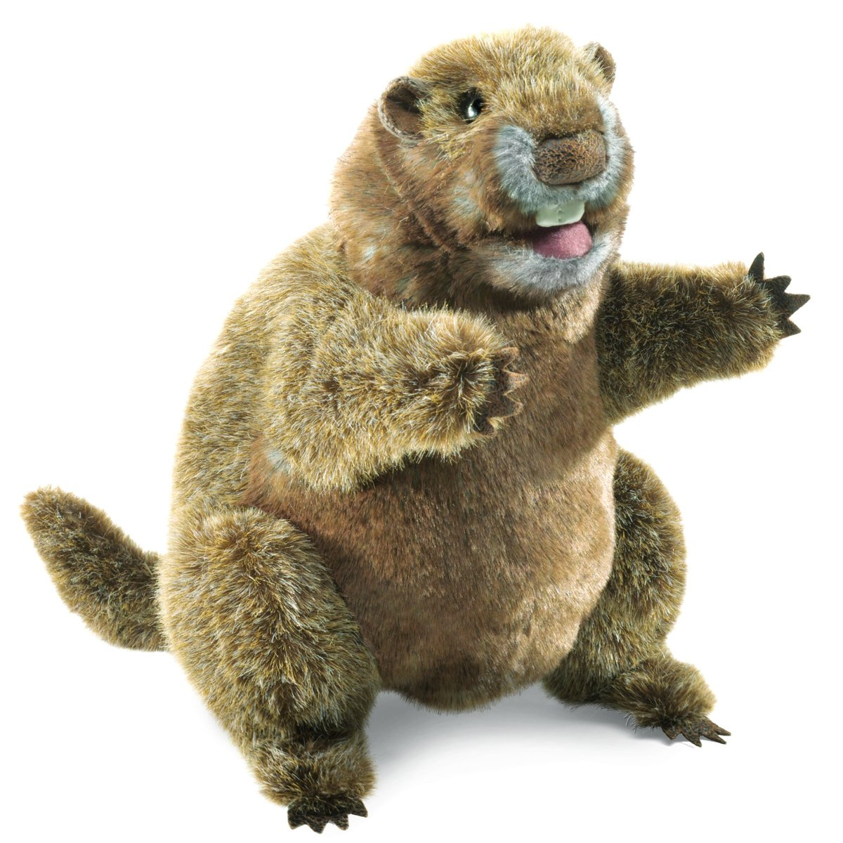 amazon com folkmanis groundhog hand puppet toys u0026 games