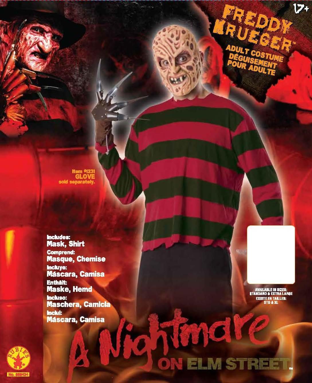 Pesadilla en Elm Street - Disfraz de Freddy Krueger, para adultos, talla única (Rubies Spain 888434): Amazon.es: Juguetes y juegos