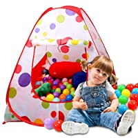 Sonyabecca Kits Play Tent, Ball pit House for Kids Tent Play Tents for Girls Indoor Outdoor Tale Tent