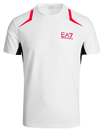 c4cfc8b49d1d Emporio Armani EA7 t-Shirt (M-13-Ts-48277) - L(UK) L(IT) L(EU) - White   Amazon.co.uk  Clothing