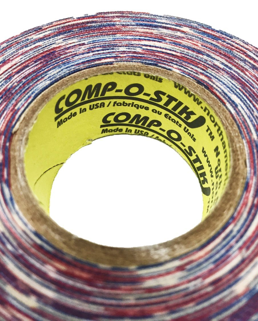 3 Rolls of Comp-O-Stik American Flag Hockey Lacrosse Stick Tape ATHLETIC TAPE (3 Pack) Made In The U.S.A. 1'' X 60'