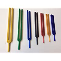 Chakra Tuning Fork With Color Therapy Energy Healing with Mallet & Velvet Pouch