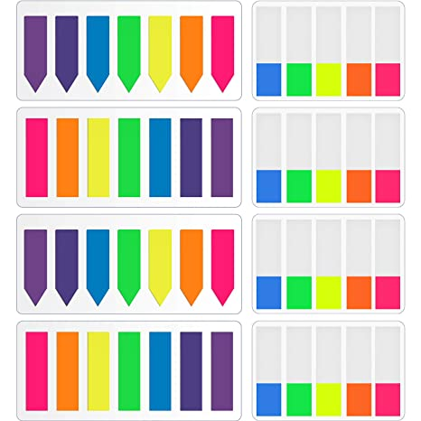 960 Piezas de Marcador de Página de Neon, Índices Etiquetas Dispensadores de Banderas, Notas