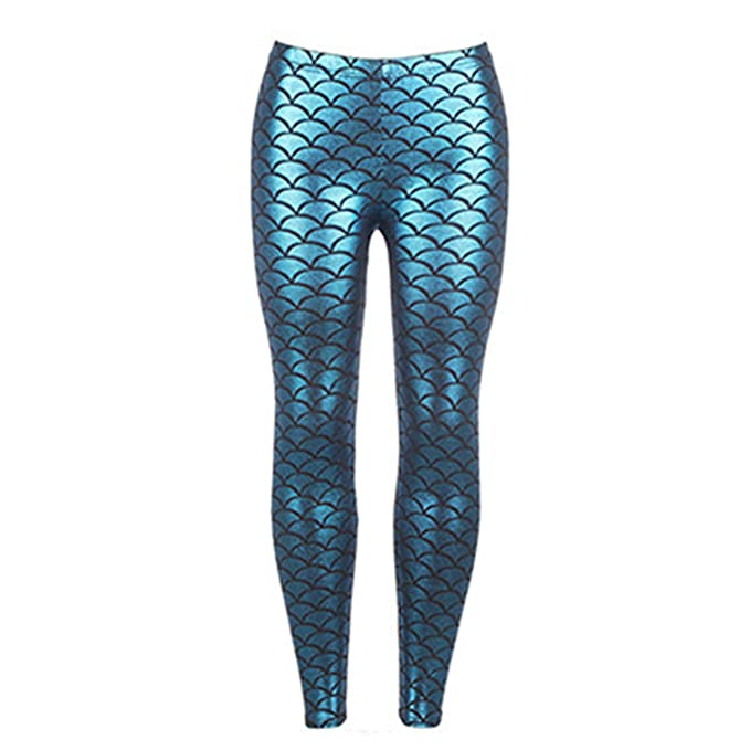 84d04691db660a Leo Lamb S-4Xl High Waist Leggings Women Sexy Mermaid Fish Scale Skinny Slim  Jeggings Fashion Comfortable Plus Size at Amazon Women's Clothing store:
