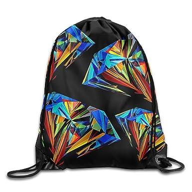Kathleen color Diamond Impreso cachorro cara sonriente emoticono suave Casual mochila escolar libro bolsas mochila cordón mochilas para viajar o ir de ...