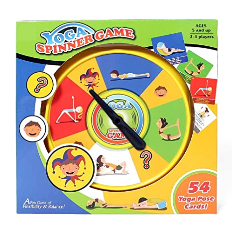 Amazon.com : mrGood Yoga Spinner Yoga Game with 54pcs Yoga ...