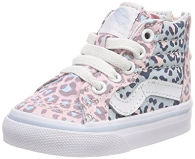 0d24b81aff Vans Toddler (2-Tone Leopard) Sk8-Hi Zip Chalk Pink Baby