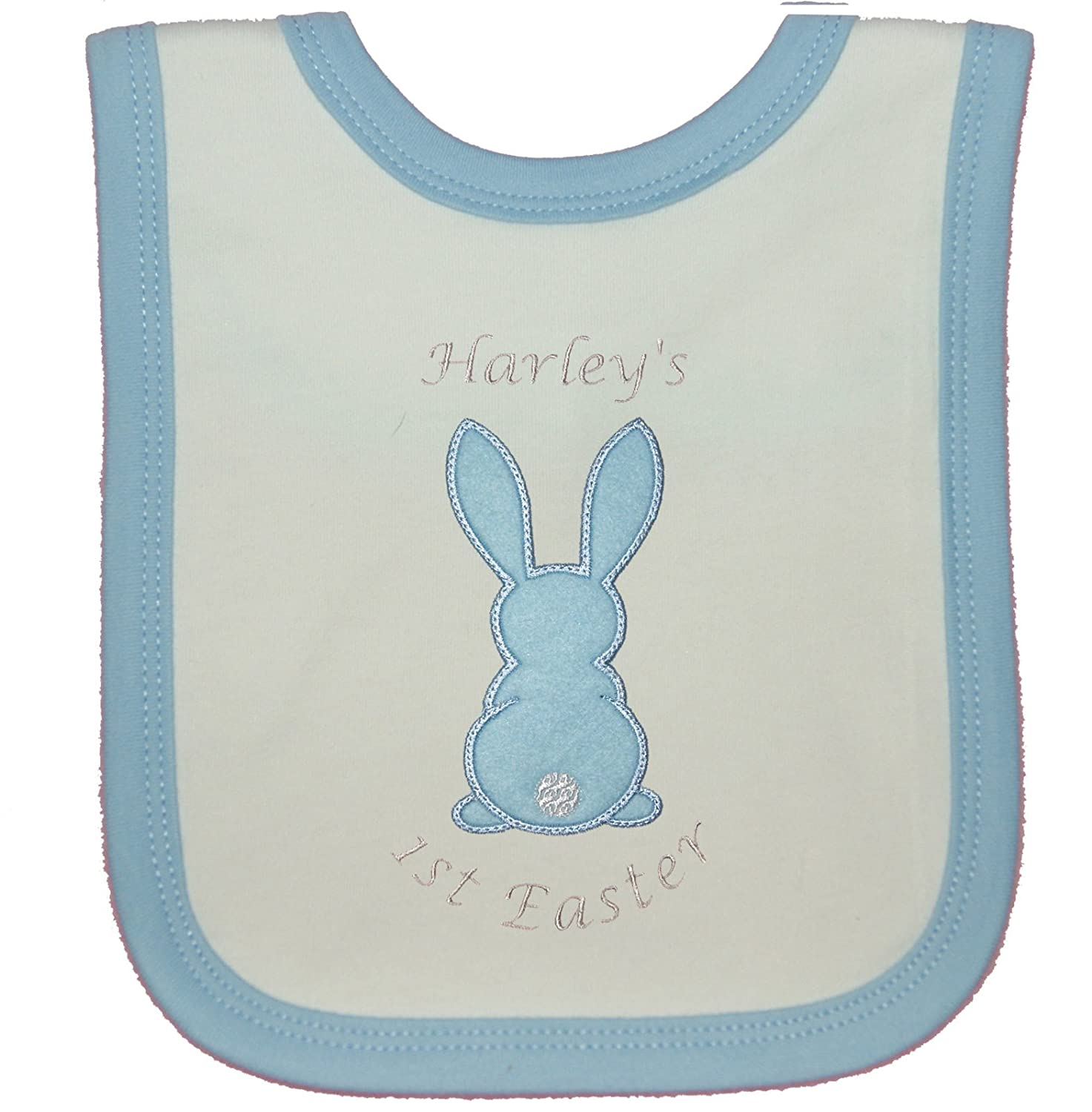 Bunny Embroidered Baby T-Shirt Gift Personalised First Rabbit Name 1st Easter