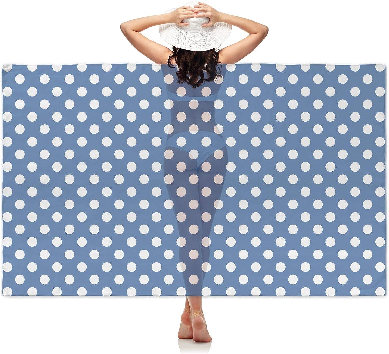 RNK Shops Polka Dots Sheer Sarong Blue Personalized