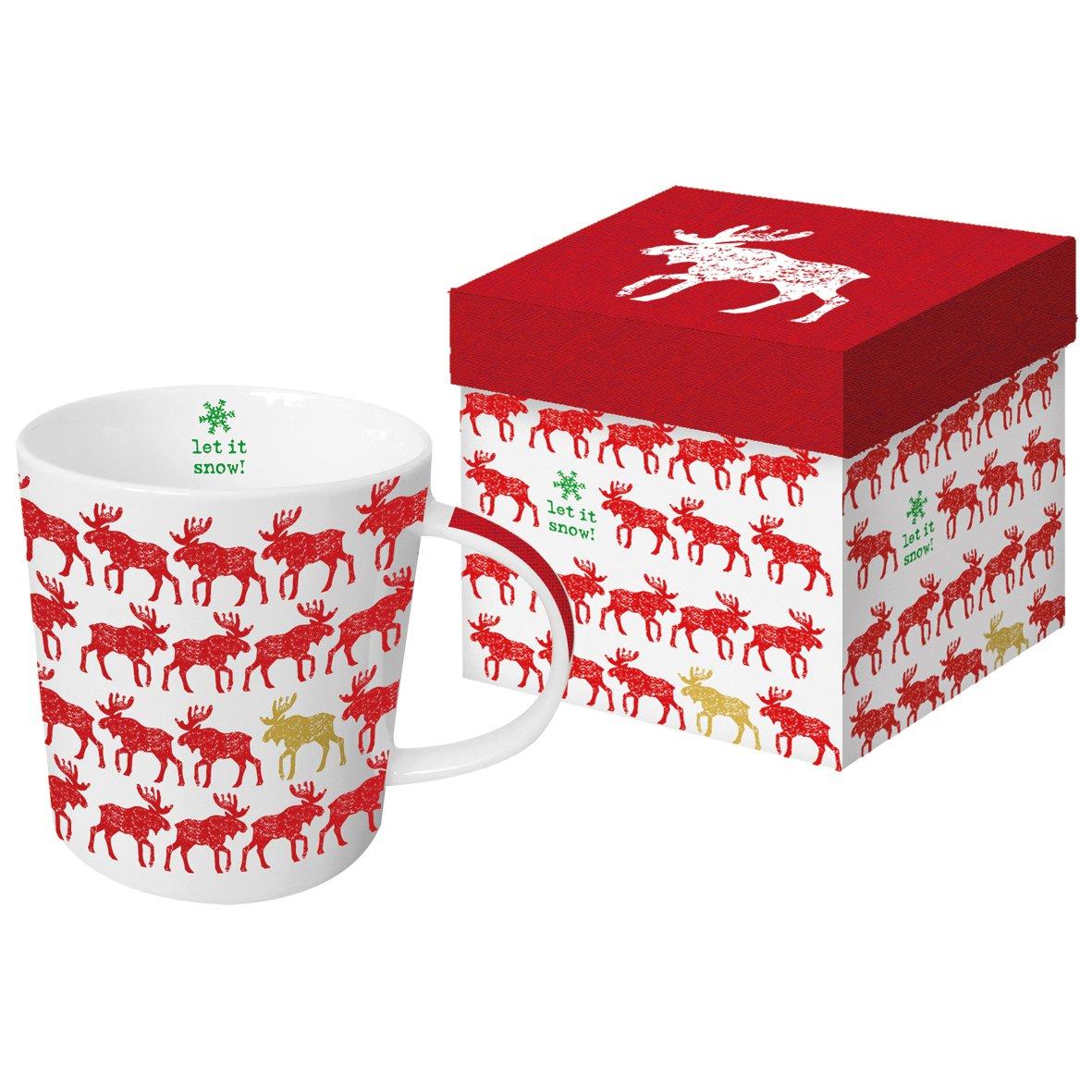 PPD Tasse en Porcelaine Blanc avec cerf avec bo/îte-Cadeau