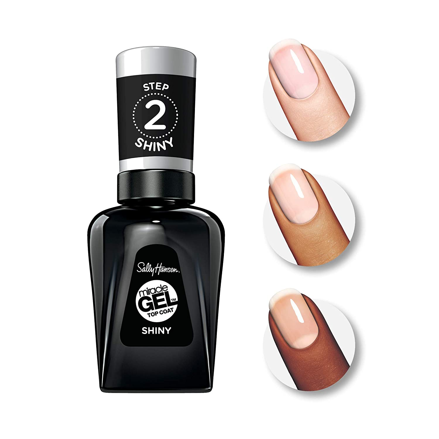 Amazon.com: Sally Hansen Miracle Gel Nail Polish, Top Coat, Pack of ...