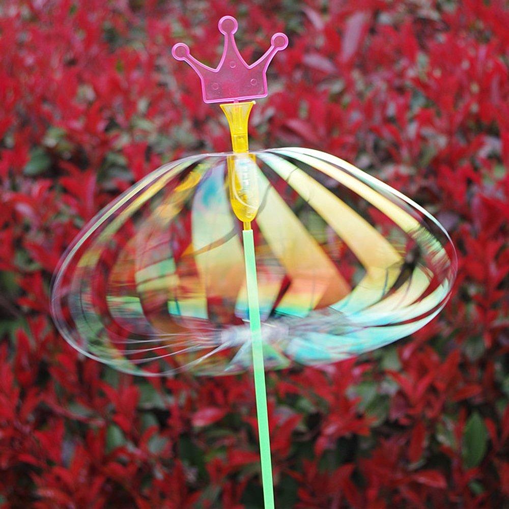 Mmrm Vary Bubble Ball Rainbow LED Flash Light Magic Colors Twirler for Kid