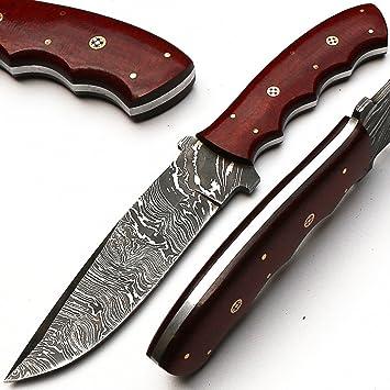 8790 handgefertigtes Couteau Acier Damas – Couteau universel – avec fourreau  en cuir haute qualité b3ed4694a9a