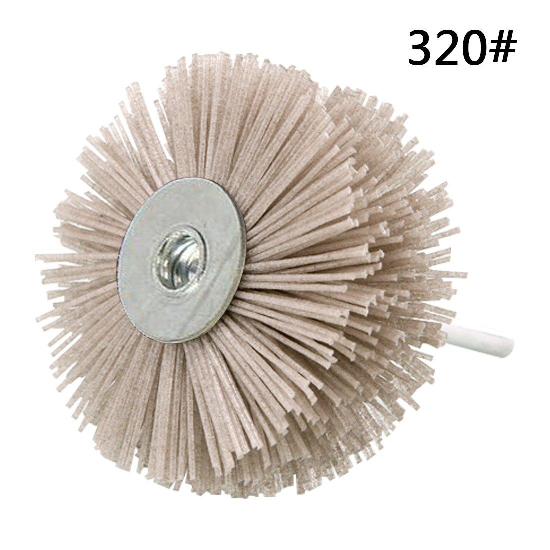Abrasive Nylon Rad Pinsel Radial Polierb/ürste f/ür Holz M/öbel Mahagoni Finishing Metall Stein ODOD85mm 1 St/ück Grau 240#