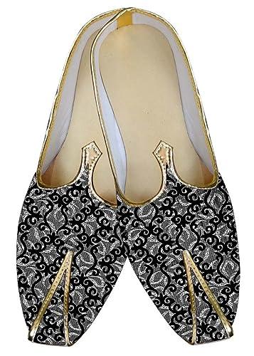 Mens Gray Wedding Shoes Flower Design MJ016029
