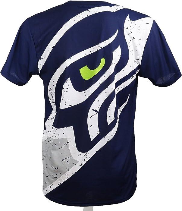 a71c9e64a A NEW ERA Era - Seattle Seahawks T-Shirt tee - Big Logo Back - Navy ...