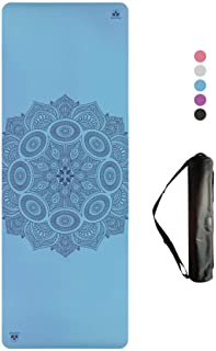 Clever Yoga Premium LiquidBalance Mat Eco and Body Friendly Sweat Grip Non-Slip with Carrying Yoga Bag