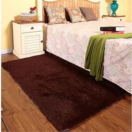 YLMD Moderno tappeto rettangolare minimalista in tinta unita, camera ...
