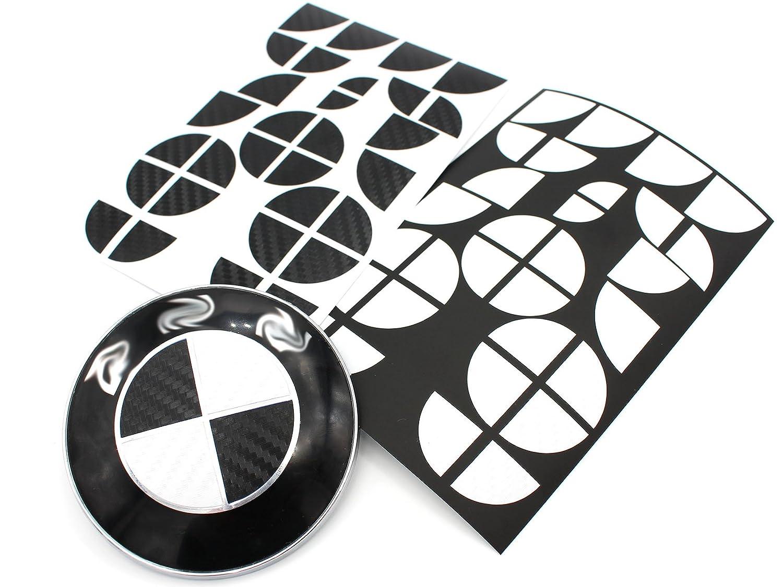 Emblema de carbono aut/éntico en blanco y negro Finest-Folia GmbH todos los modelos