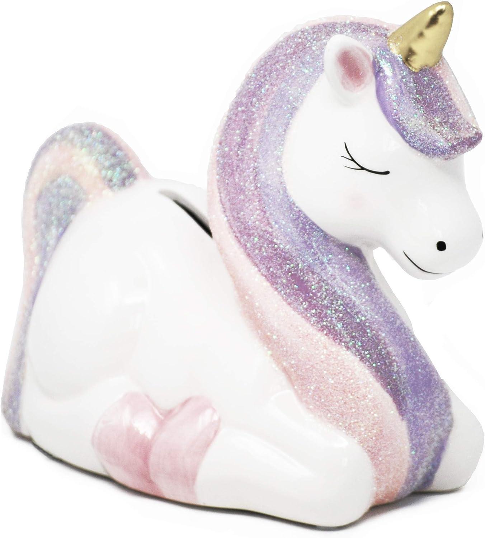 Hapinest Ceramic Unicorn Piggy Bank Gifts for Girls