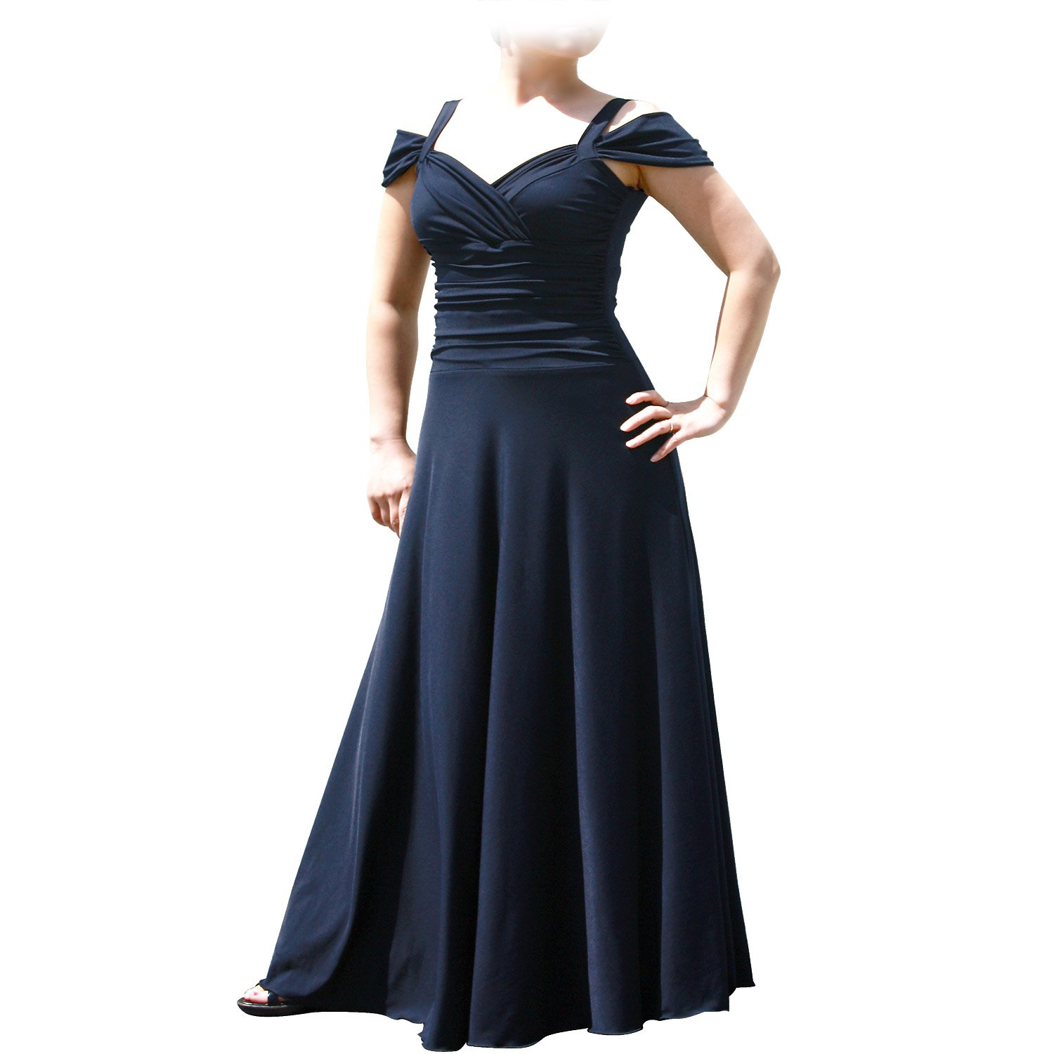 EVANESE Women's Plus Size Elegant Long Formal Evening Dress with Shoulder bands D86171