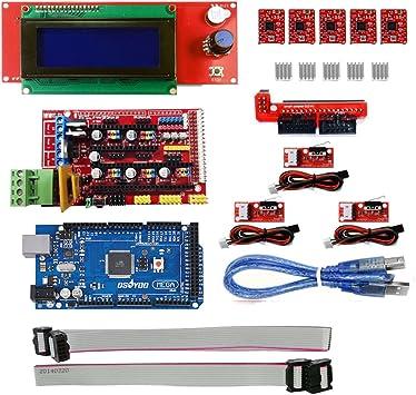 kookye 3d Impresión controlador Kit para Arduino Ramps 1.4 + ...
