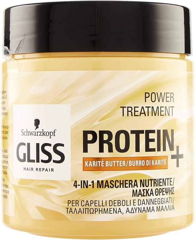 Gliss - Mascarilla Proteína 4 en 1 Manteca Karité, Proteína ...