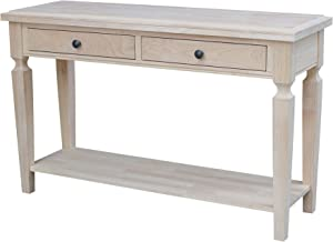 International Concepts Vista Console/Sofa, Unfinished Accent Table