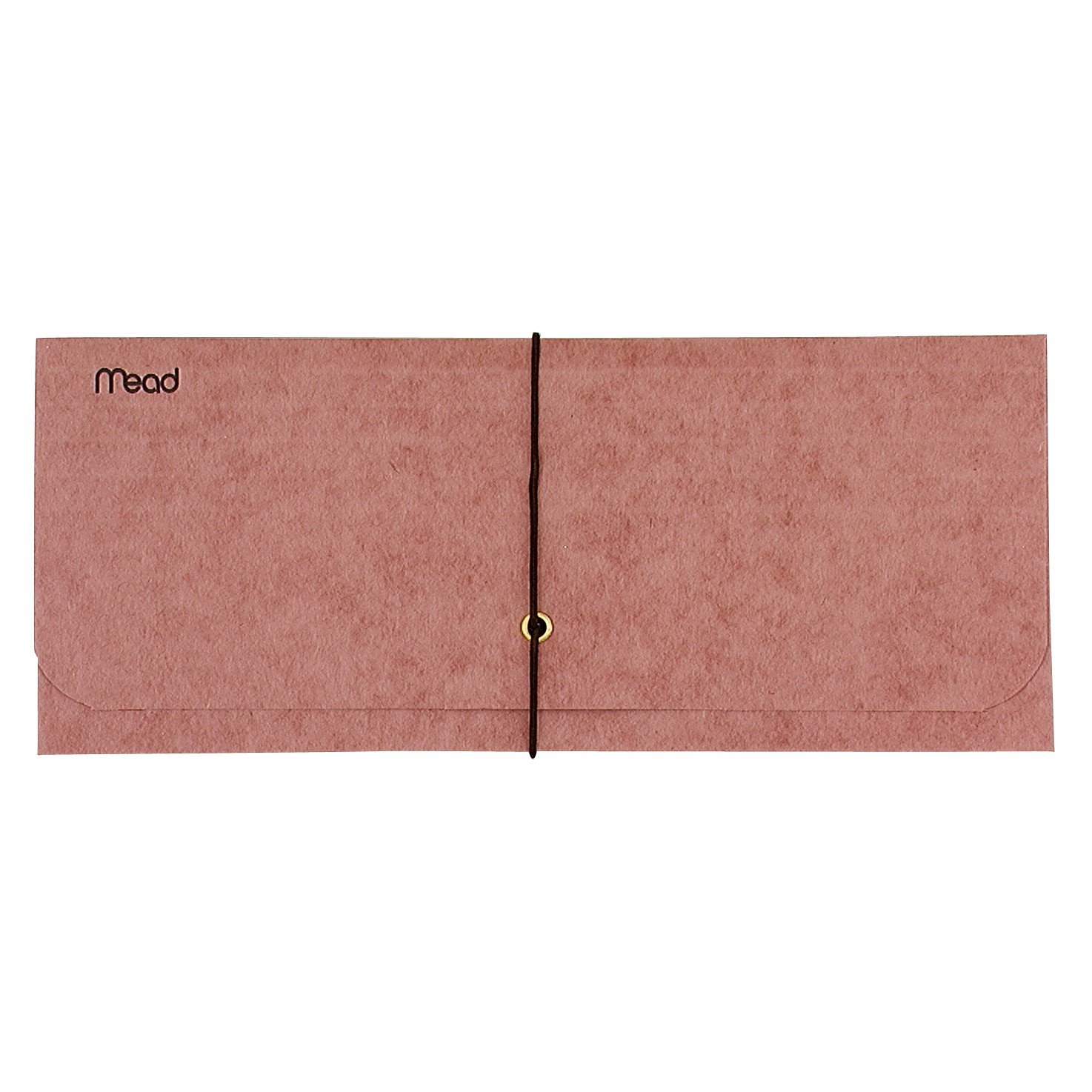 Mead Expanding Check Wallet, Durable, Reddish Brown