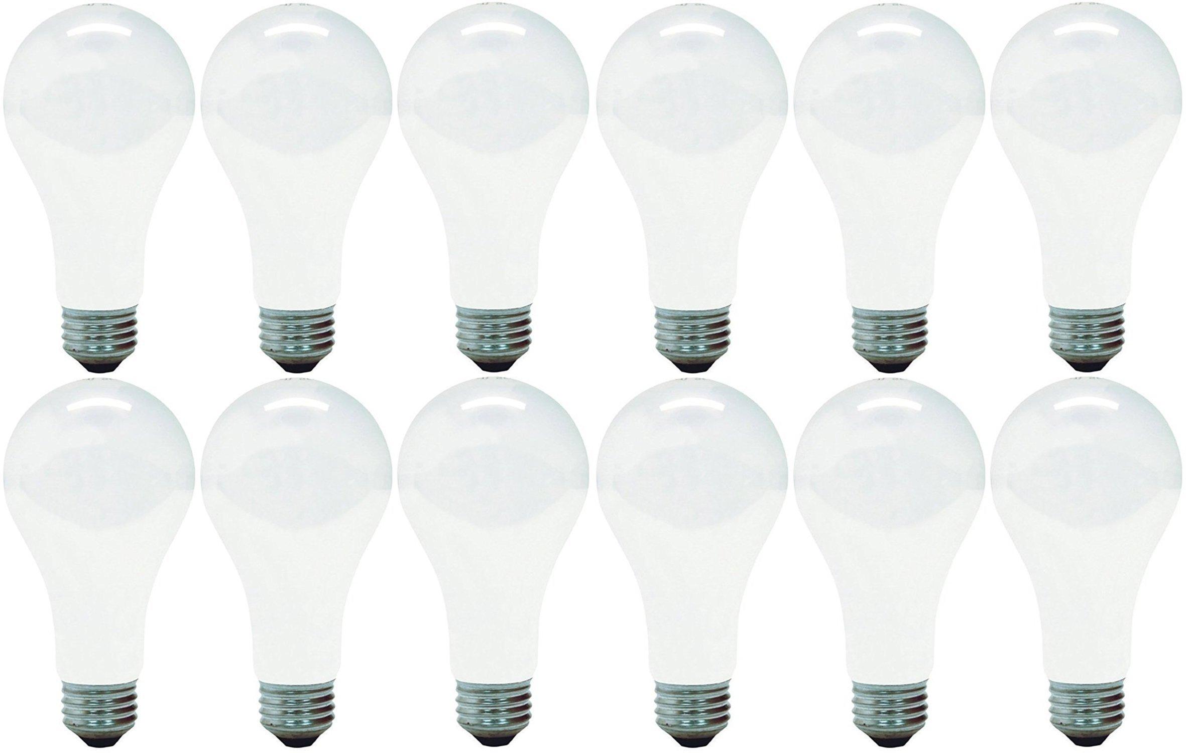GE Lighting 11585 Soft White 200-Watt A21 Light Bulb with Medium Base, 12-Pack