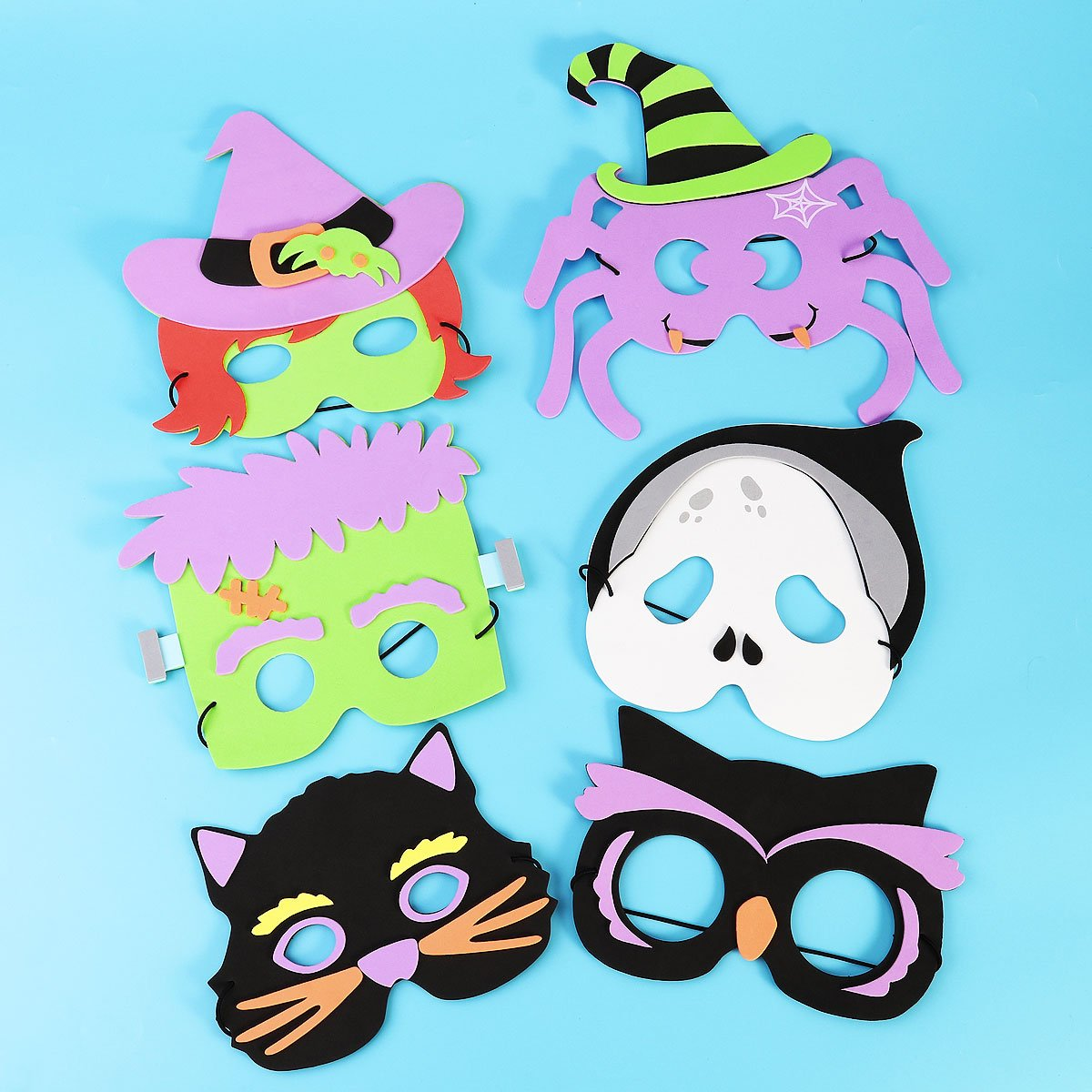 Halloween Foam Party Masks for Kids, Dress Up Costume Mask with ...