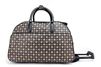 Designer Style Wheeled Holdall Handle Trolley Cabin Travel Luggage ...