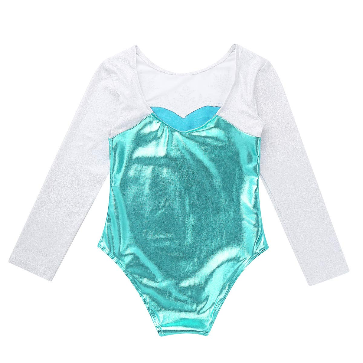 Enfant Garçon Fille Danse Déguisement Brillant Paillettes et dentelle jazz gymnastique Dancewear Costume