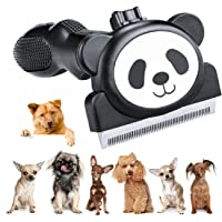 Cubbe Pet Grooming Brush Shedding Tool for Dogs and Cats with Stainless Steel (Black/ White)